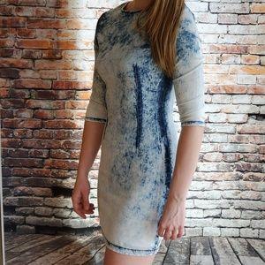 Denim form fitting dress